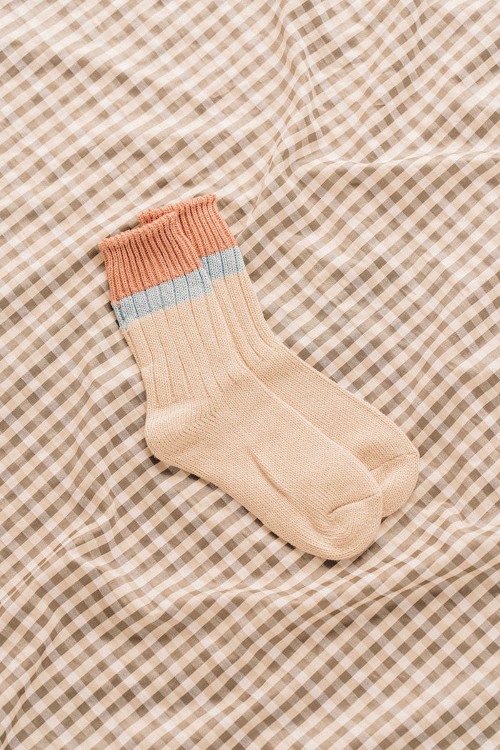 Le Bon Shoppe Camp color block stripe socks tawny | PIPE AND ROW boutique gift clothing store seattle