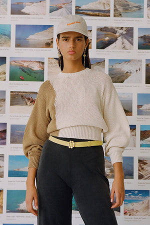 Paloma Wool Camu beige cream cotton sweater | Pipe and Row