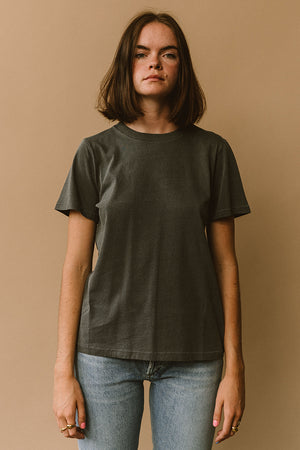 Filosofia Ariana grey tee perfect t-shirt top buttery cotton | pipe and row boutique