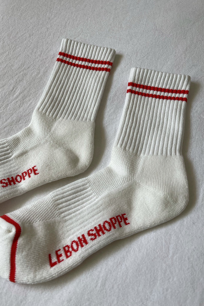 Le Bon Shoppe Boyfriend white socks WFH cozy | Pipe and Row Boutique Seattle