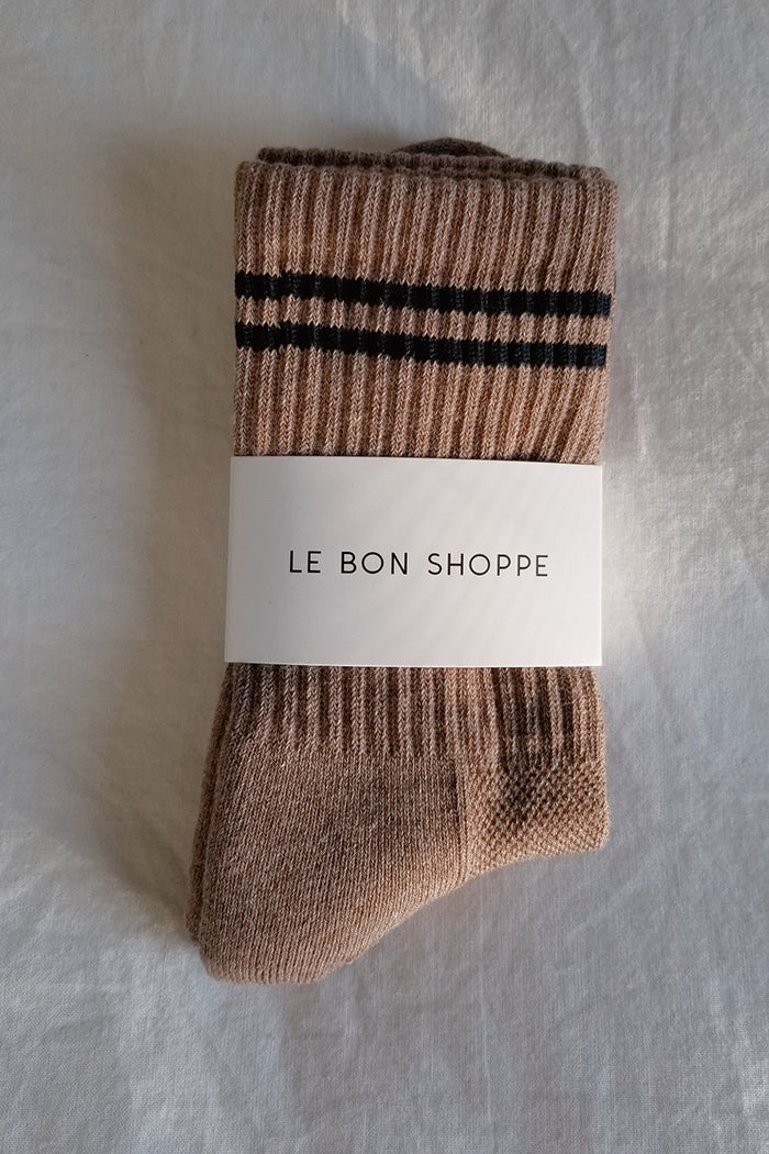 Le Bon Shoppe Boyfriend socks cocoa brown WFH cozy | Pipe and Row Boutique Seattle