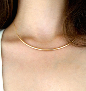 Collar Necklace 14k gold 14"
