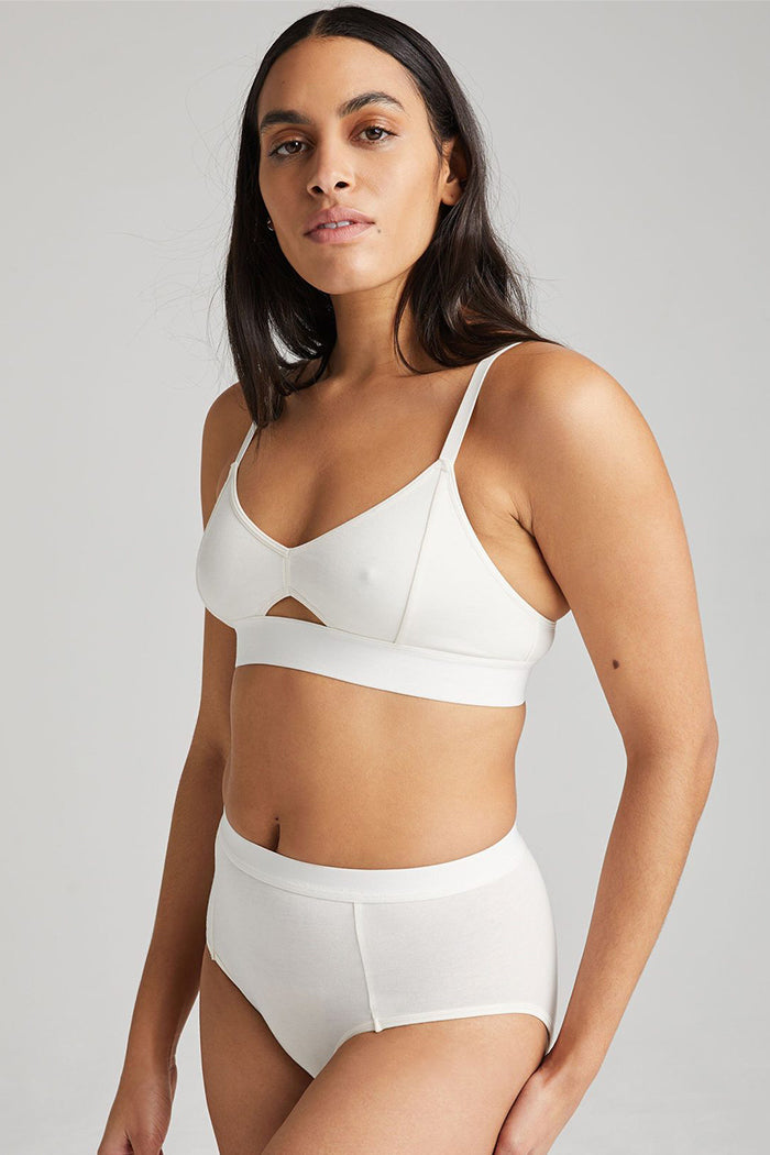 Richer Poorer cut out center bralette soft bone cream | Pipe and Row boutique Seattle