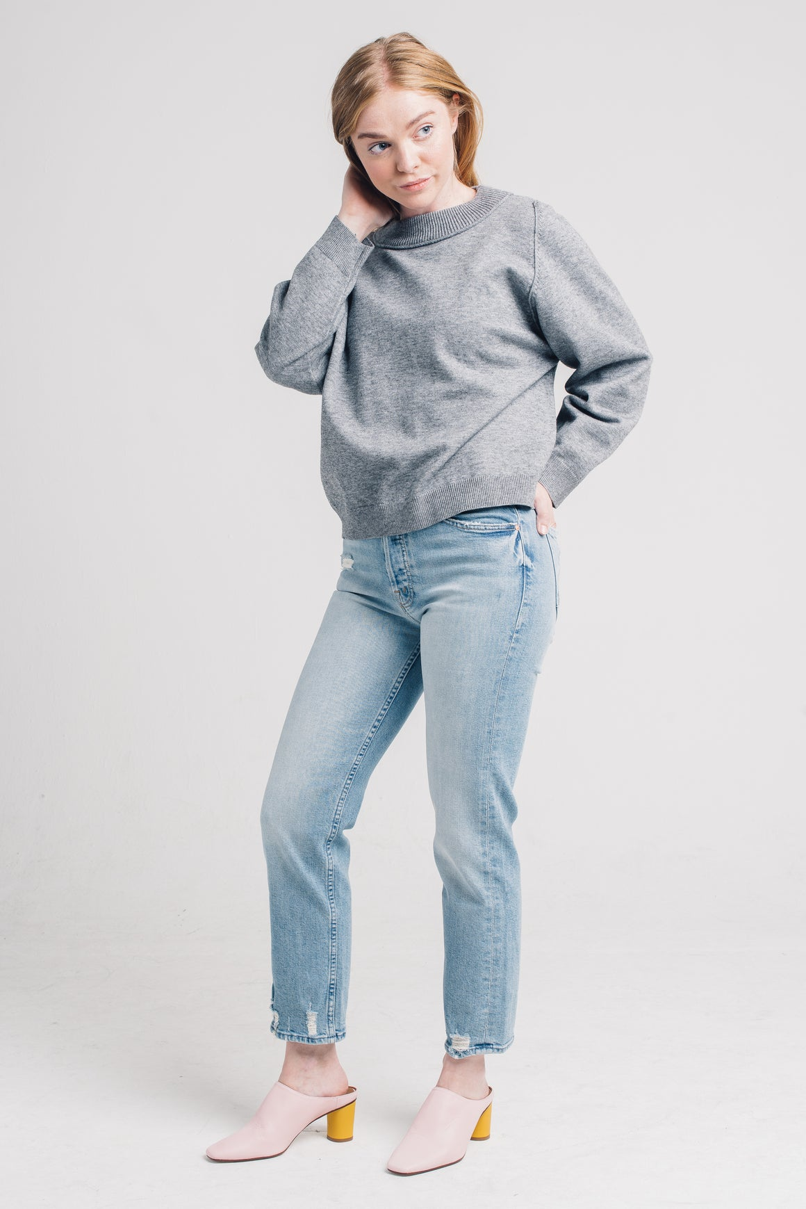 daily sweater heather grey knot sisters | pipe and row boutique seattle