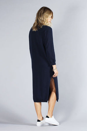 KNOT SISTERS DARRIEN SWEATER DRESS NAVY | PIPE AND ROW