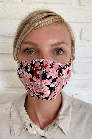 FACE MASK DARK MONET FLORAL