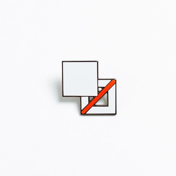 design square pin white poketo | pipe and row