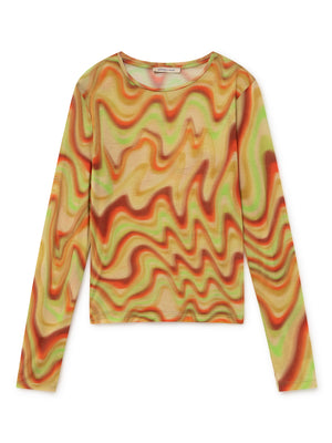 Paloma Wool Dilema longsleeve top hypnotizing print | Pipe and Row seattle fremont
