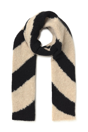 Paloma Wool Dixit scarf twister black white wool alpaca | Pipe and Row seattle boutique