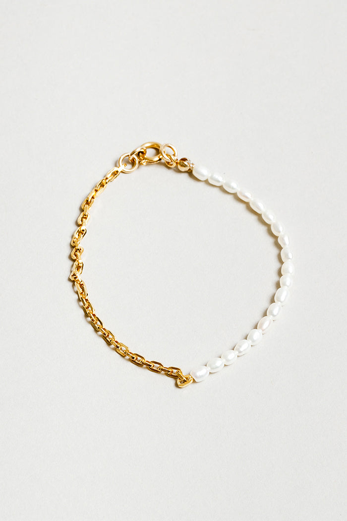 Wolf Circus Effy bracelet fresh water pearl chain | pipe and row boutique Seattle