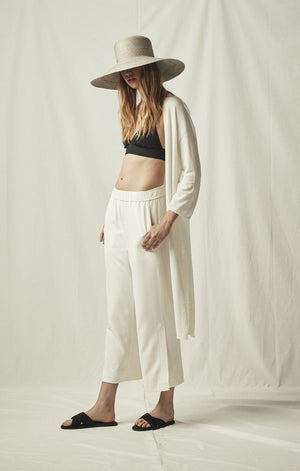 cropped trousers ivory mijeong park | pipe and row