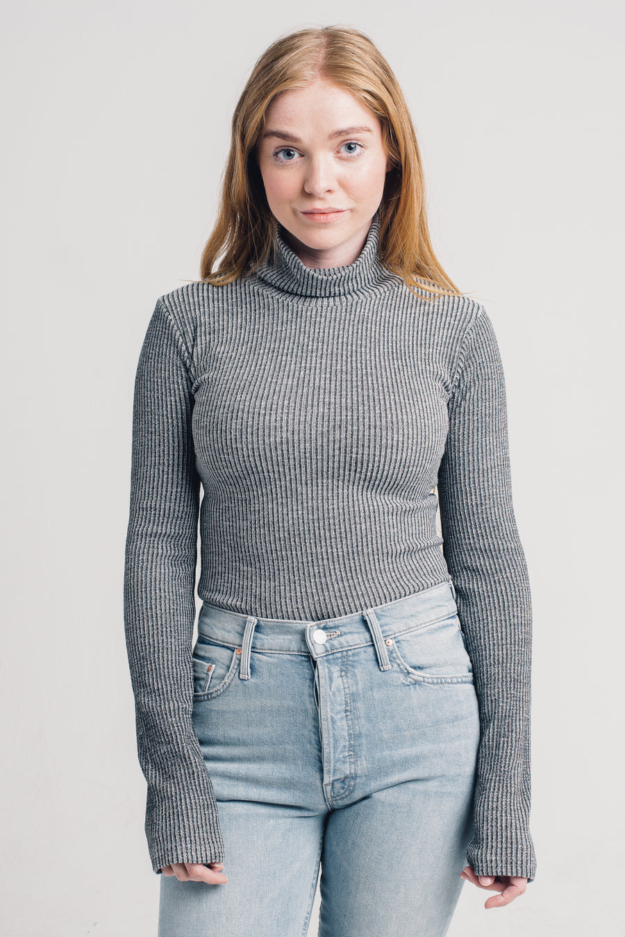 erika turtleneck black heather knot sisters | pipe and row boutique seattle
