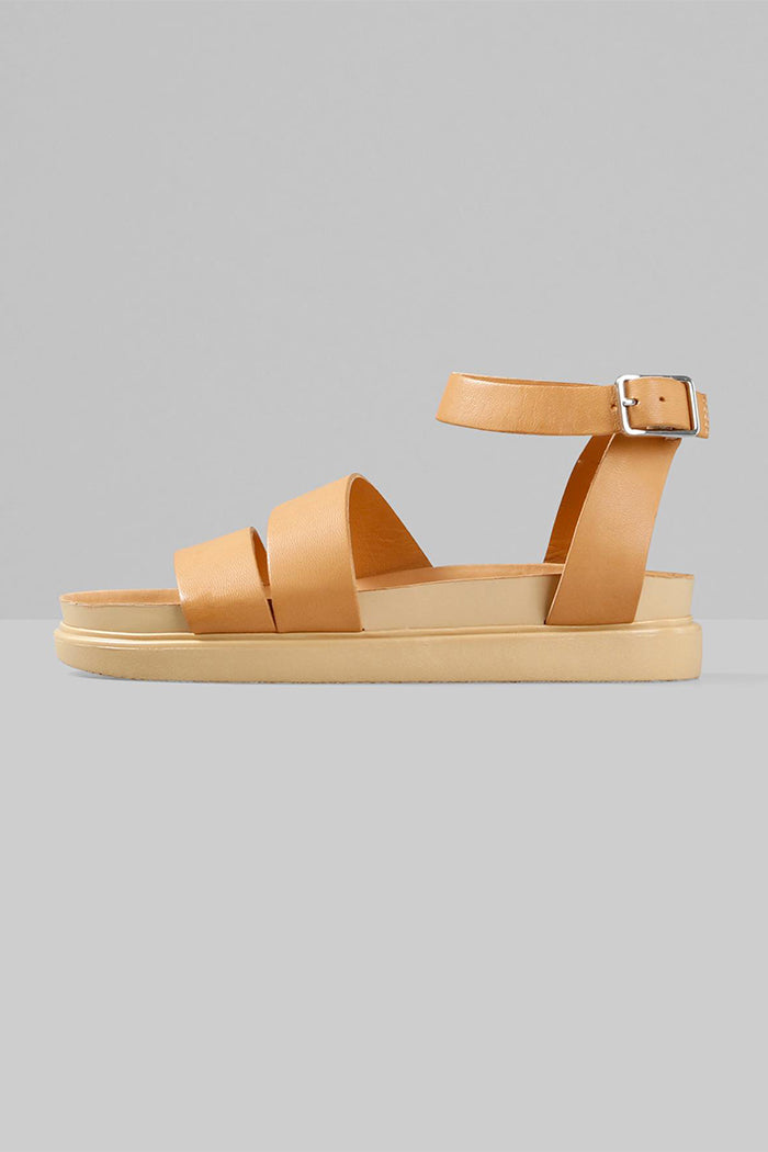Vagabond Erin wrap sandals natural tan platform doc martin | Pipe and Row