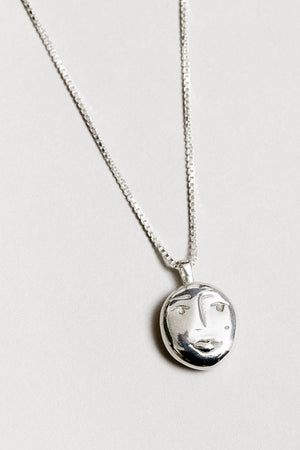 Wolf Circus Evelyn face pendant necklace | pipe and row boutique seattle