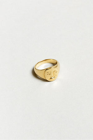 EVELYN SIGNET FACE RING