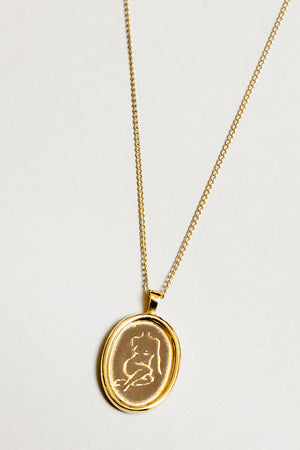 Wolf Circus jewelry feminist woman Femme pendant necklace | Pipe and row