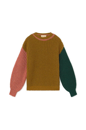 Paloma Wool Frigo color chunky block sweater ochre | PIPE AND ROW seattle boutique pipeandrow.com