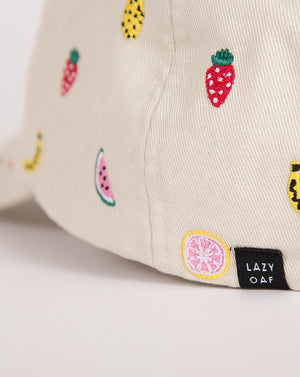 EMBROIDERED FRUIT CAP