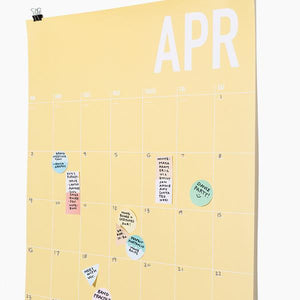 geo shape sticky notes calendar poketo | pipe and row