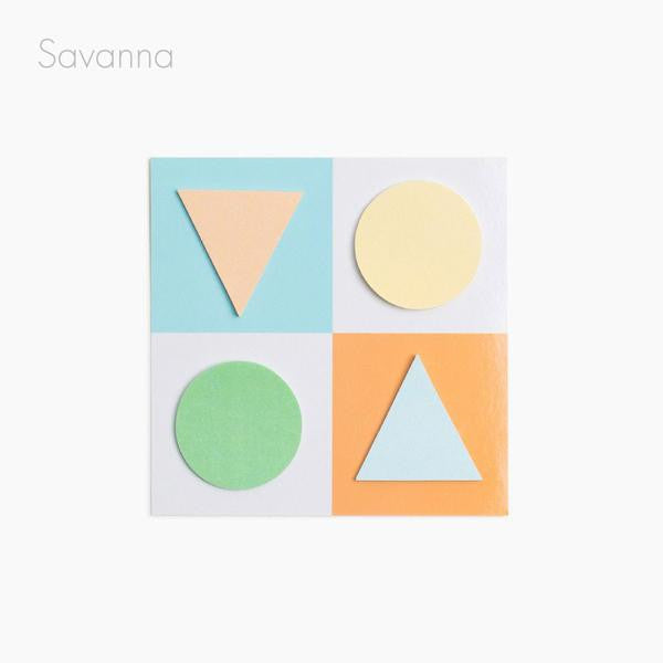 geo shape sticky notes savannah poketo | pipe and row