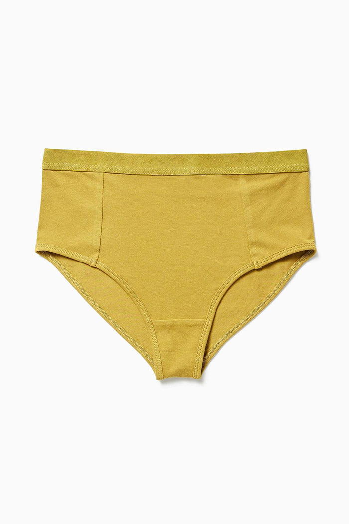 Richer Poorer high waist brief underwear golden verde mustard | Pipe and Row boutique Seattle