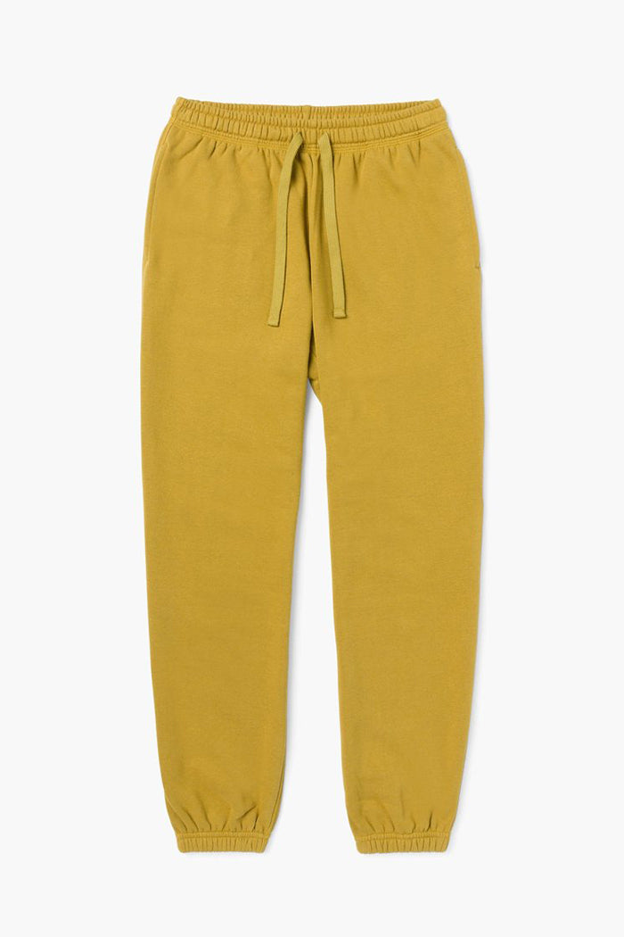 RECYCLED FLEECE SWEATPANTS GOLDEN VERDE