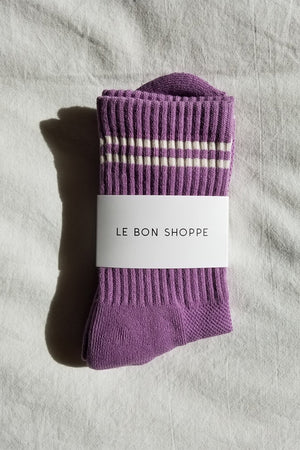 BOYFRIEND SOCKS GRAPE