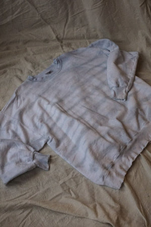 morning mist grey PULLOVER oversized tie dye local handmade | Pipe and Row