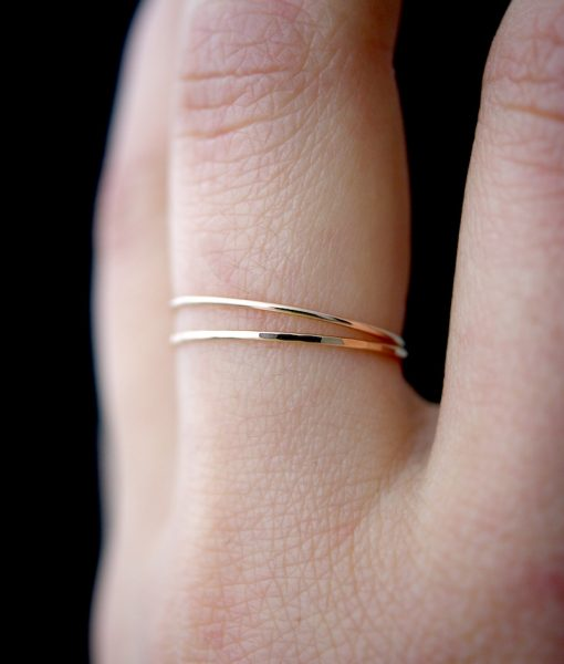 SMOOTH THIN STACKING RING SILVER