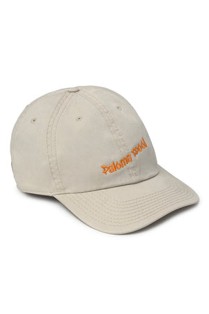 Paloma Wool Happy Hour embroidered adjustable beige orange dad hat | Pipe and Row