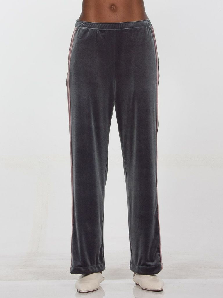 Havana Velvet Track Pants Grey and Mauve pink Drifter | Pipe and Row Boutique Seattle Fremont