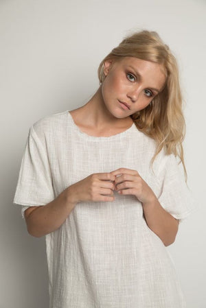Rue Stiic HAYES TEXTURED TOP WHITE | PIPE AND ROW