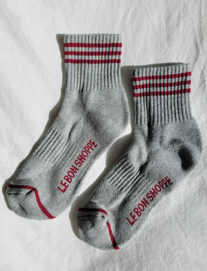 GIRLFRIEND SOCKS HEATHER GREY