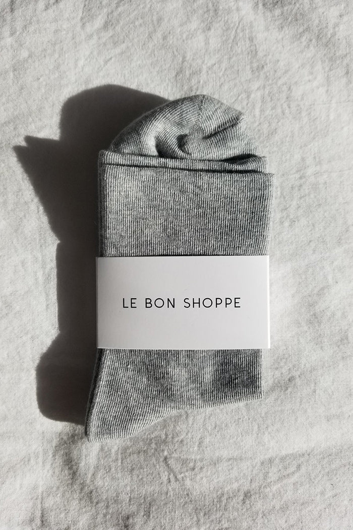 Le Bon Shoppe sneaker sock cotton thin heather grey | pipe and row boutique pipeandrow.com