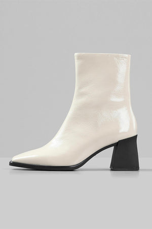 Vagabond white plaster patent Hedda mid-high boot square | pipe and Row