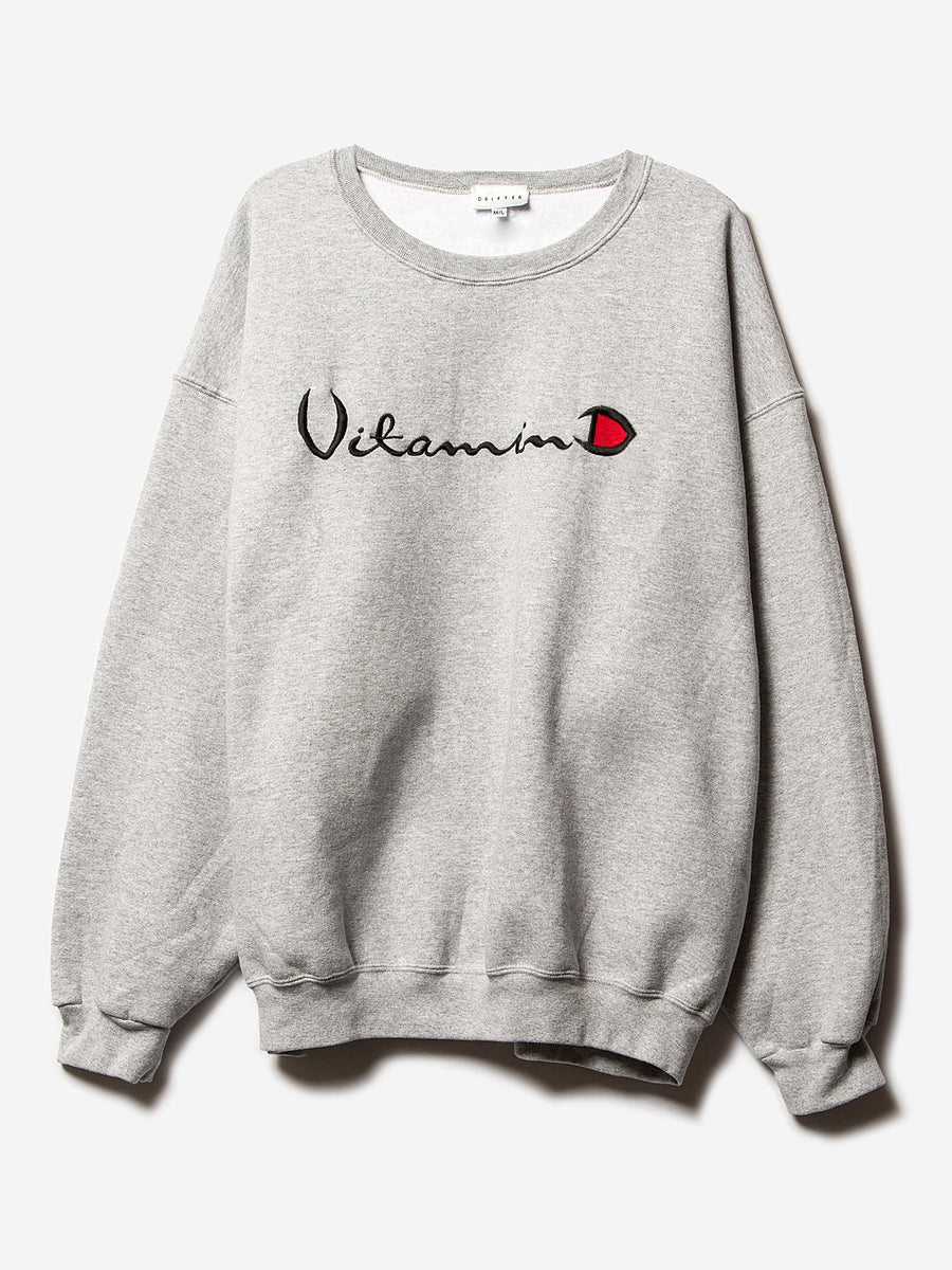 helios grey crewneck sweatshirt drifter vitamin d | pipe and row
