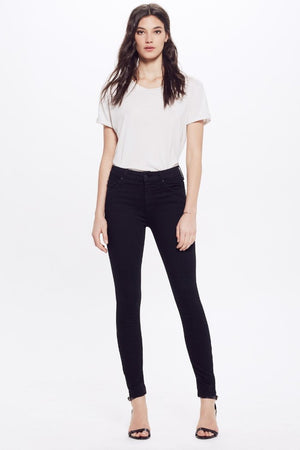 Mother Denim High-Waisted Looker black skinny stretch Jeans Not Guilty | Pipe and Row