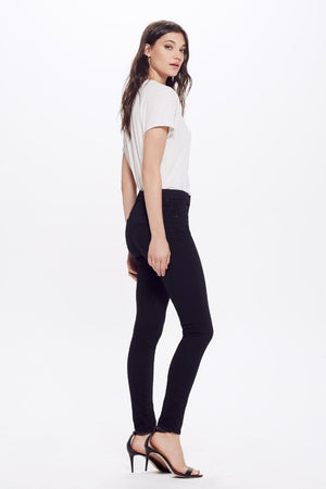 Mother Denim High-Waisted Looker fitted black skinny stretch Jeans Not Guilty | Pipe and Row