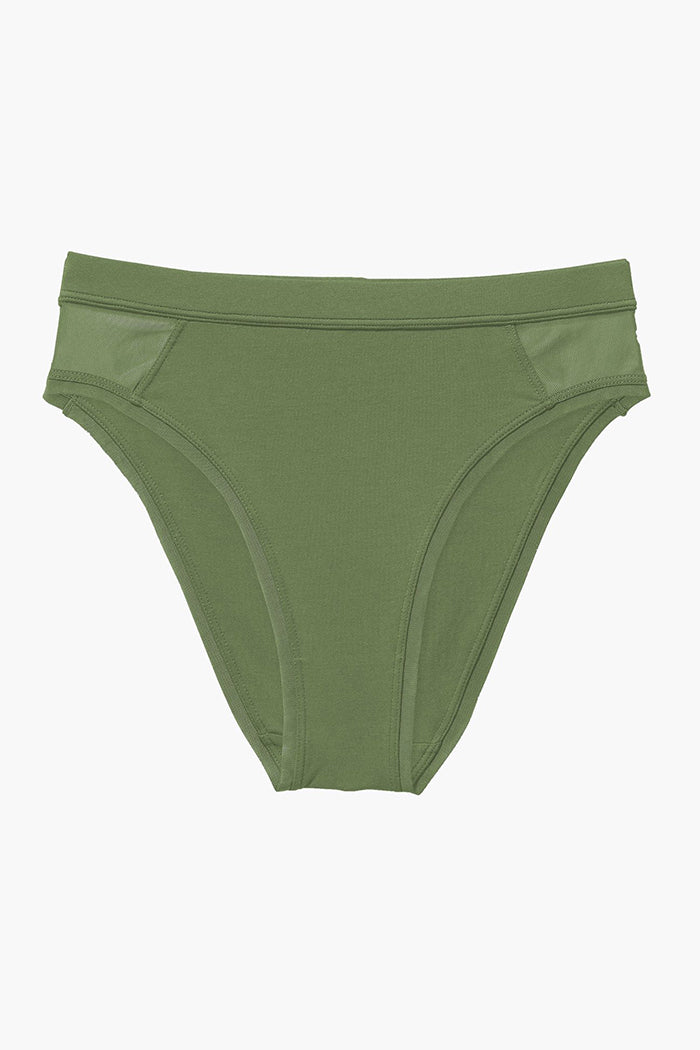 HIGH CUT BRIEF OLIVE ARMY