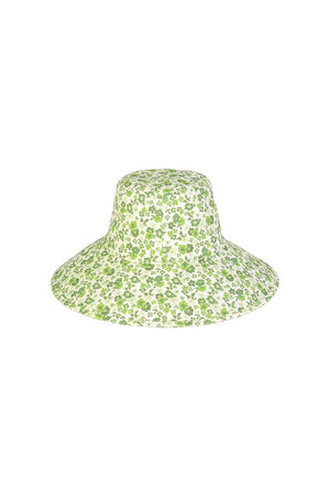 Lack of Color Holiday wide brimmed canvas bucket hat ivy bloom green floral print | Pipe and Row