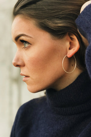 "hoops jewelry 2.5"" hammered earring 14k gold 