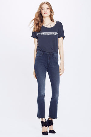 hustler crop ankle fray my wildest ride mother denim | pipe and row