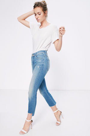insider crop step fray shake well mother denim | pipe and row