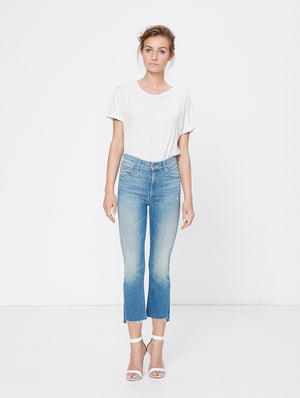 insider crop step fray shake well mother denim | pipe and row boutique