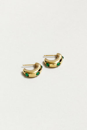 Wolf Circus Isla green Peridot hoops | pipe and row boutique