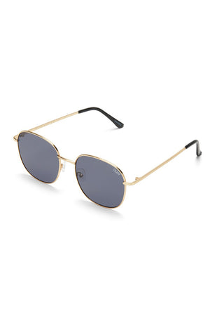 Quay Jezabell sunglasses gold smoke round vintage | pipe and row