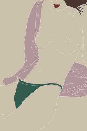 kera print green nude seattle drawn by cave | pipe and row