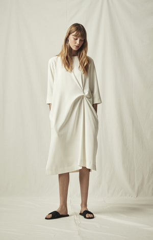 knot dress ivory mijeong park | pipe and row