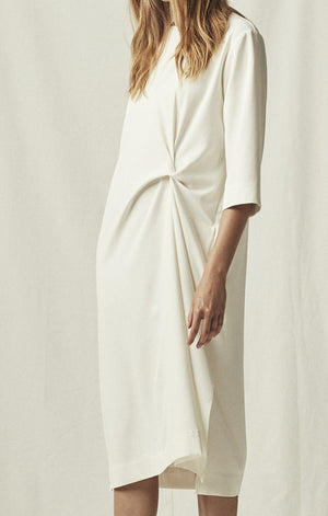 knot drape dress ivory mijeong park | pipe and row