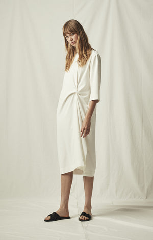 knot dress pockets ivory mijeong park | pipe and row